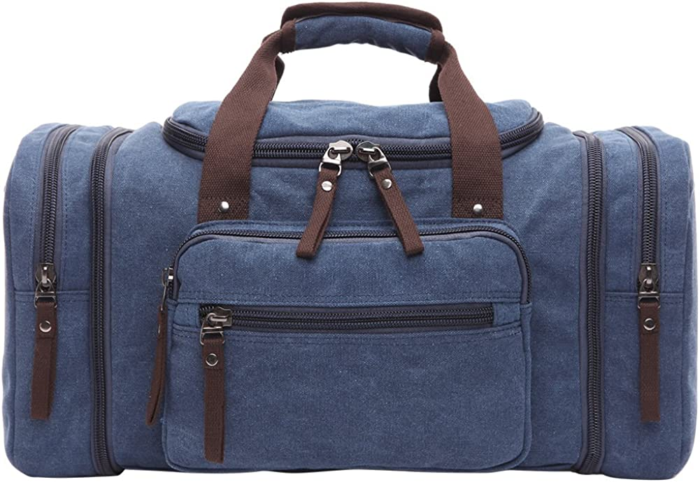 Berchirly Unisex s Canvas Duffel Bag Oversized Travel Tote Luggage Bag
