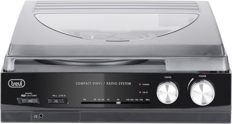 Trevi TT 1010 R Giradischi Stereo Vintage con Mp3 USB Radio e Funzione Encoding