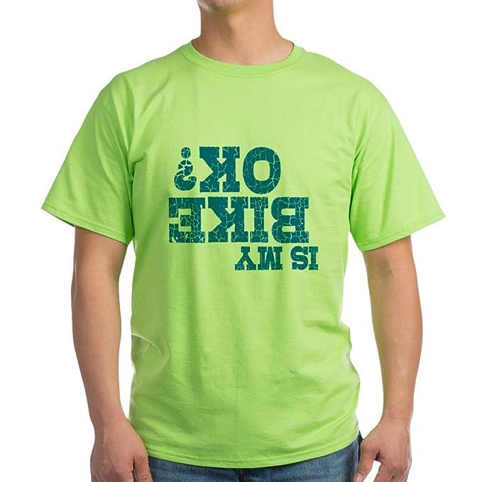 ef2fd5af80 Amazon.com: CafePress is My Bike OK? 100% Cotton T-Shirt Green: Clothing