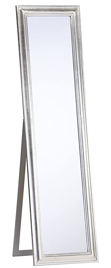 b0fc090fe60a3 Standing Mirror Silver 170 x 45 cm Country Style Shabby Chic Antique  Baroque Mirror with Bevelled Edge Wall Mirror New  Amazon.co.uk  Kitchen    Home