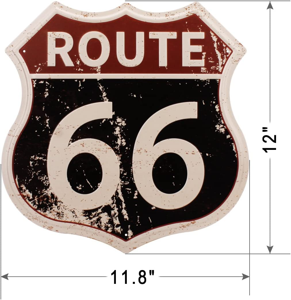 Old TIme US Route 66 Retro Road Tin Sign Bar Home Room Wall Decor Gift USA 16/""