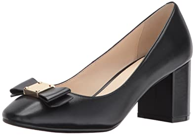 Cole Haan Women's Tali Bow Pump, Black Leather, ...