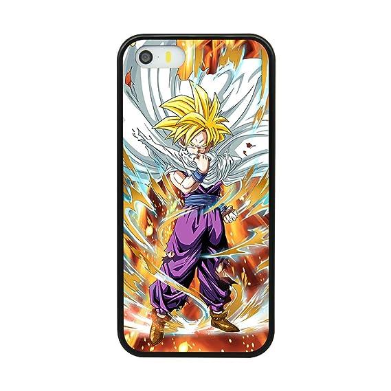 wholesale dealer b8465 4183f Amazon.com: Dragon Ball Z Son Gohan Case For Iphone 5/5S/SE Comic ...