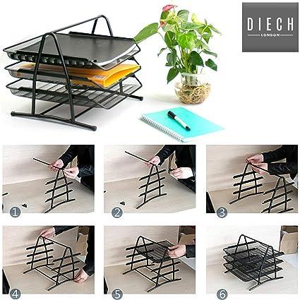 Diech Office Depot - Organizador de escritorio de oficina con 3 ...