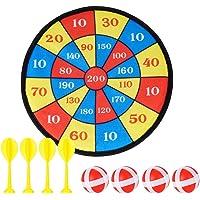 Surplex Hangend dartbord voor kinderen voor binnen of buiten, inclusief 4 ballen, 4 darts met klittenbandcoating voor…