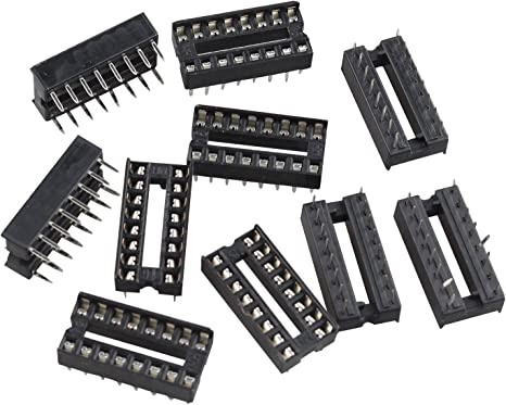 10 Zoccoli 6 pin passo 2,54mm per circuiti integrati zoccolo DIL Socket DIP
