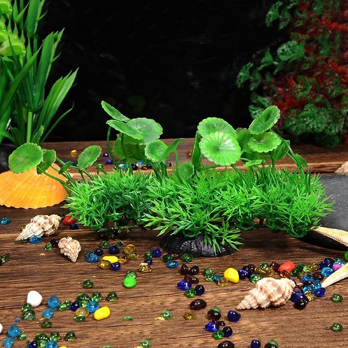 Yellow Xiton Artificial Plants Aquarium Aquascaping Tank Decor Plastic Plants Fish Tank Decorations Vivid Simulation Plant Creature Aquarium Landscape