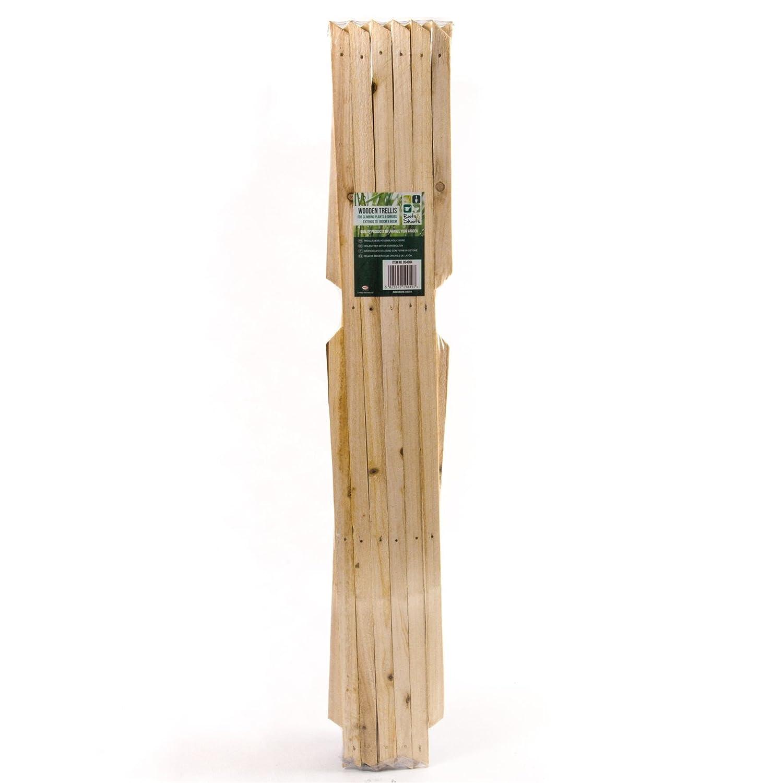 3x Large Expanding Wooden Trellis | 6Ft x 2Ft White Hinge