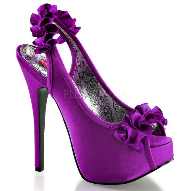 Bordello TEEZE-56 37 EU|Purple Satin En línea Obtenga la mejor oferta barata de descuento más grande