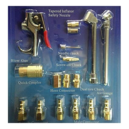 OUNONA 17pc aire herramienta compresor soplador pistola neumática accesorio accesorios kit