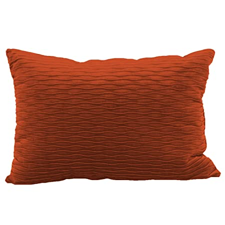 Brentwood Originals 6467 Ripple Plush Throw Pillow, Rust