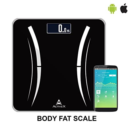 ActiveX (Australia) SAVVY Smart Digital Body Fat Wireless Personal Weighing  Scale With Free Weight Tracking App –NOT APPLICABLE FOR ANDROID 8 0