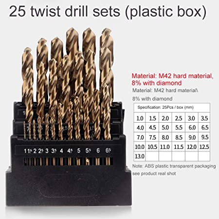 HSS Drill Bit Set High Speed Metal Hole Drilling Metric Bits 1mm to 13mm in Case