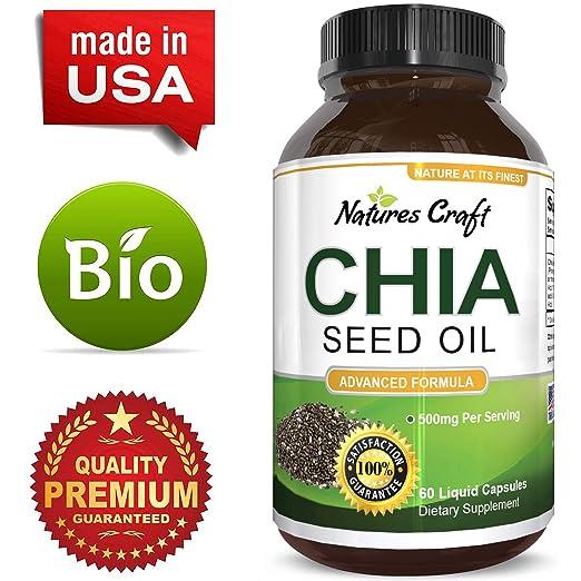 Amazon.com: PREMIUM – Extracto de Semillas de Chia Pastillas ...