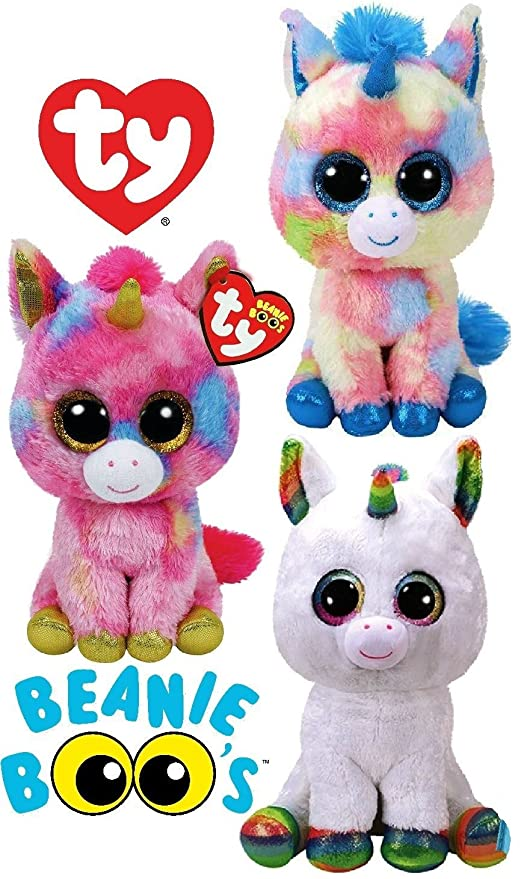 6641e5d0ca9 Image Unavailable. Image not available for. Color  TY Beanie Boos   quot Unicorns quot  Blitz
