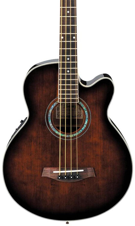 Ibanez Acoustic-Electric Bass Guitar Dark Violin Sunburst AEB10EDVS