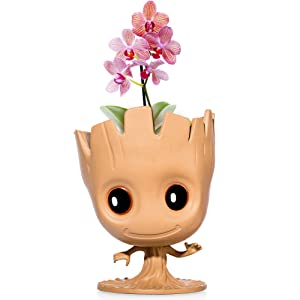 """""""I Am Groot"""" Flower Pot: Cute Decorative Planter Pot Can Also Be Used As Pens Holder, Storage Container Or DIY Indoor Plant Growing   Guardians of The Galaxy Themed Pot"""