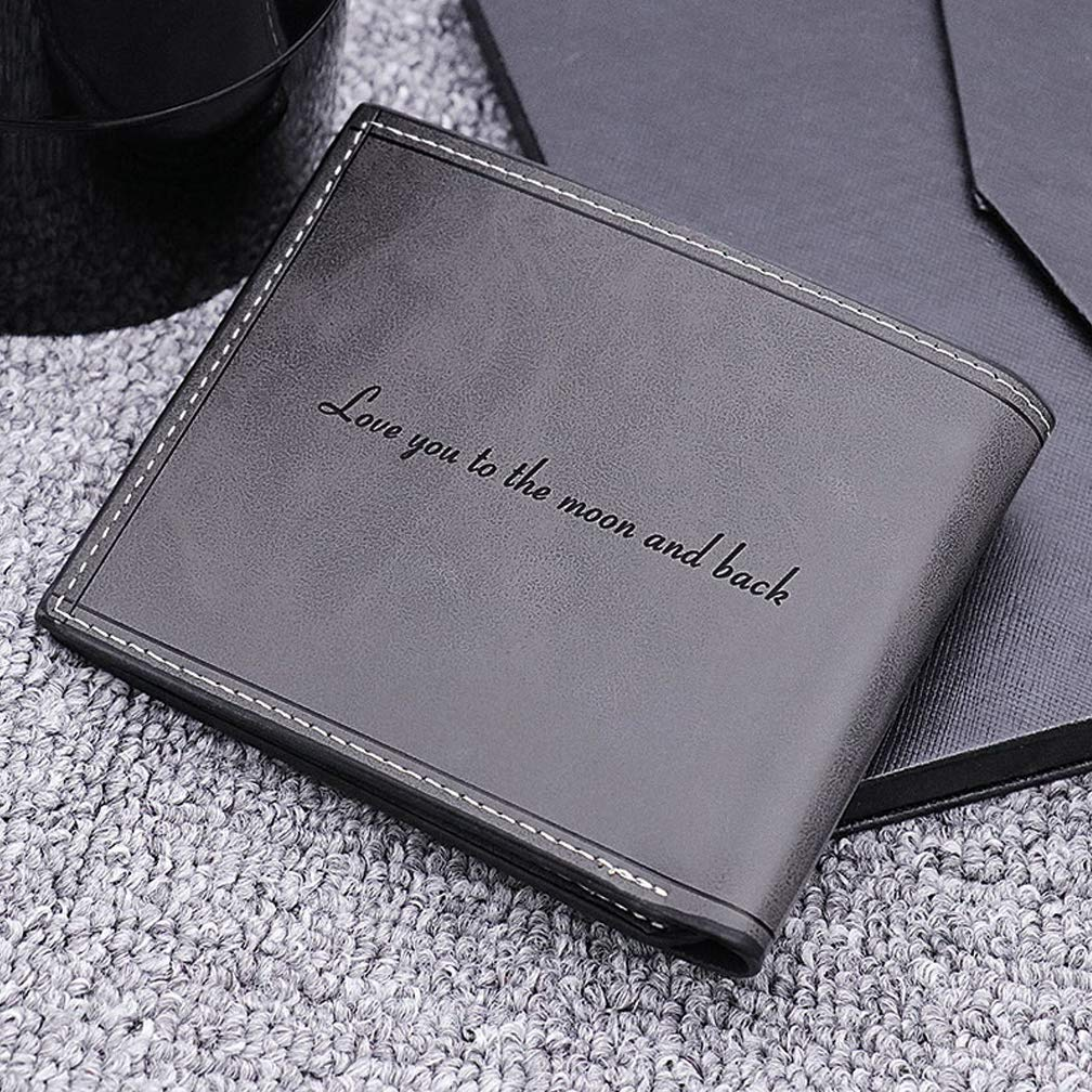Personalized Mens Wallet Short Slim Wallets Man Photo Wallet