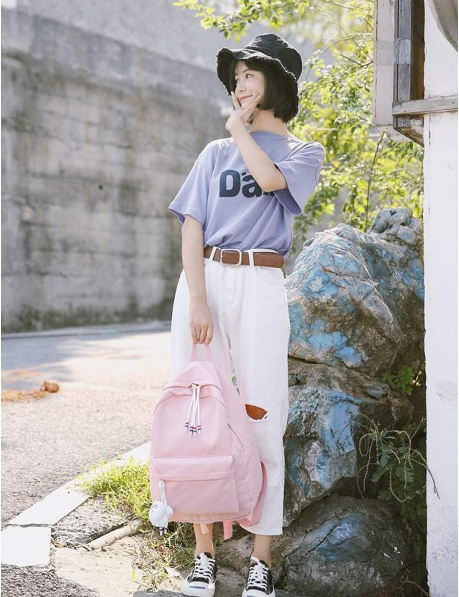 8haowenju The Girls Versatile Backpack is Perfect for Everyday Travel Latest Models Outdoor School Fresh and Simple Work Travel Six Colors Fashion and Leisure