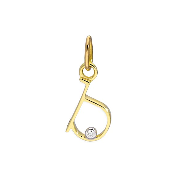 d3db2521dee70 9ct Yellow Gold 0.4pts Diamond Alphabet Letter Pendant A - Z