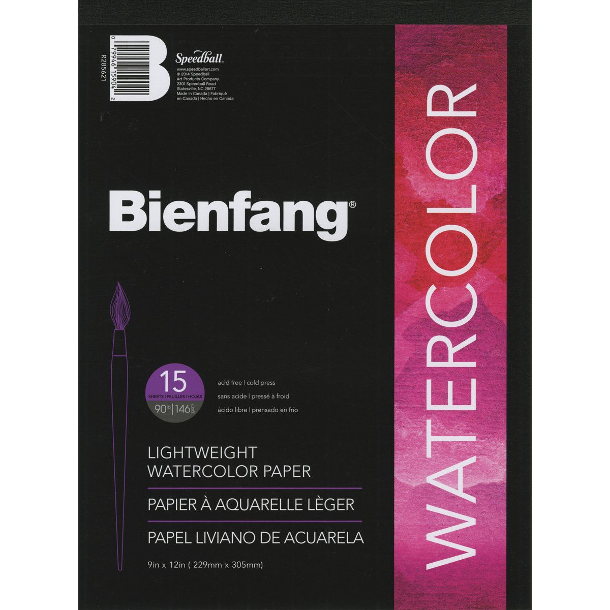 Speedball Art Products Bienfang Aquademic 9-Inch by 12-Inch Watercolor Paper Pad, 15 Sheets R285621