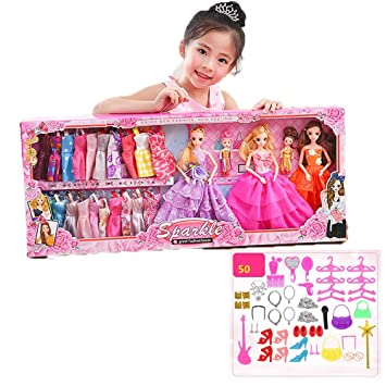 b449cfb78032 ZMH Beauty Dress Up Gift Box Toy, 12 Joints Movable Plastic Girl Doll  Change Clothes Game For Children Kids Lady Gifts: Amazon.co.uk: Sports &  Outdoors