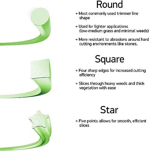 Weed eater line shape