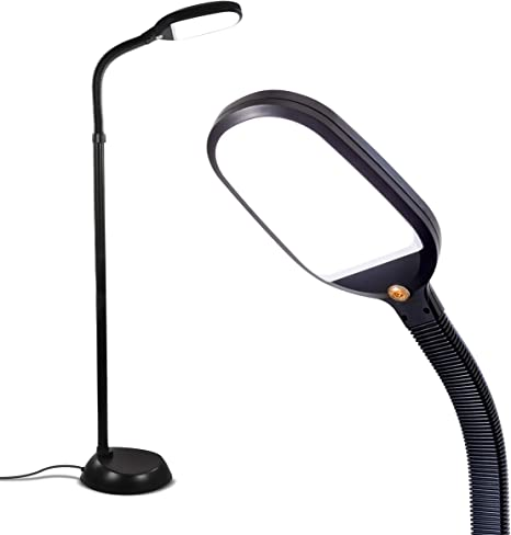 Brightech Litespan Bright Led Floor Lamp For Crafts Reading