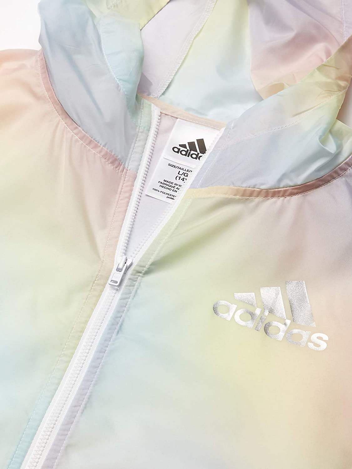 adidas Girls Lightweight Windbreaker Jacket Sport Jacket