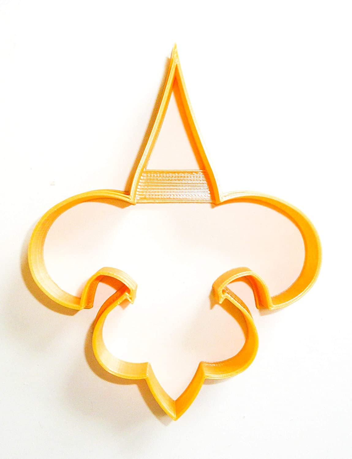 NEW ORLEANS SAINTS NFL FOOTBALL LOGO SPECIAL OCCASION FONDANT STAMP CUTTER OR CUPCAKE TOPPER SIZE 1.75