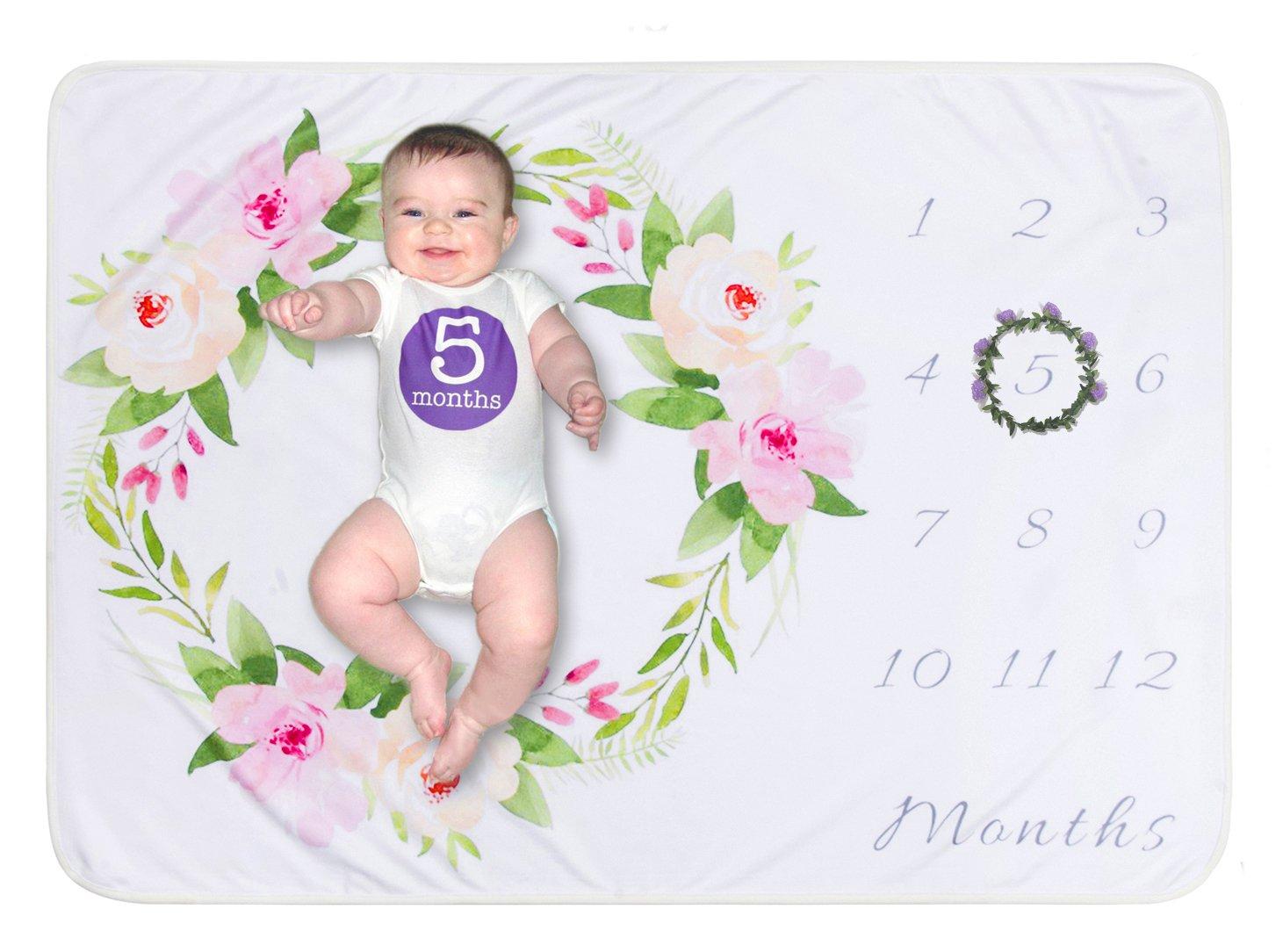 Baby Milestone Blanket Newborn Best Gift Photography Background Props Keepsake Softan