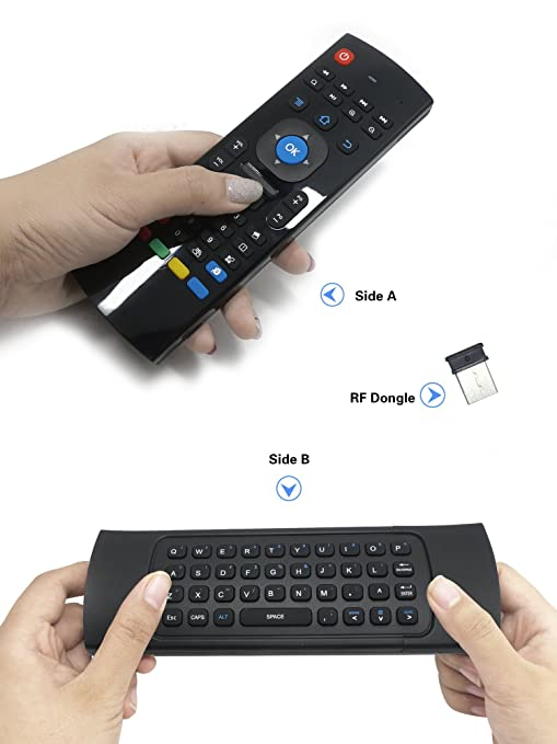 2 opinioni per Air Mouse,Telecomando per Smart TV BOX Multifunzione MX3 2.4G Wireless Mini