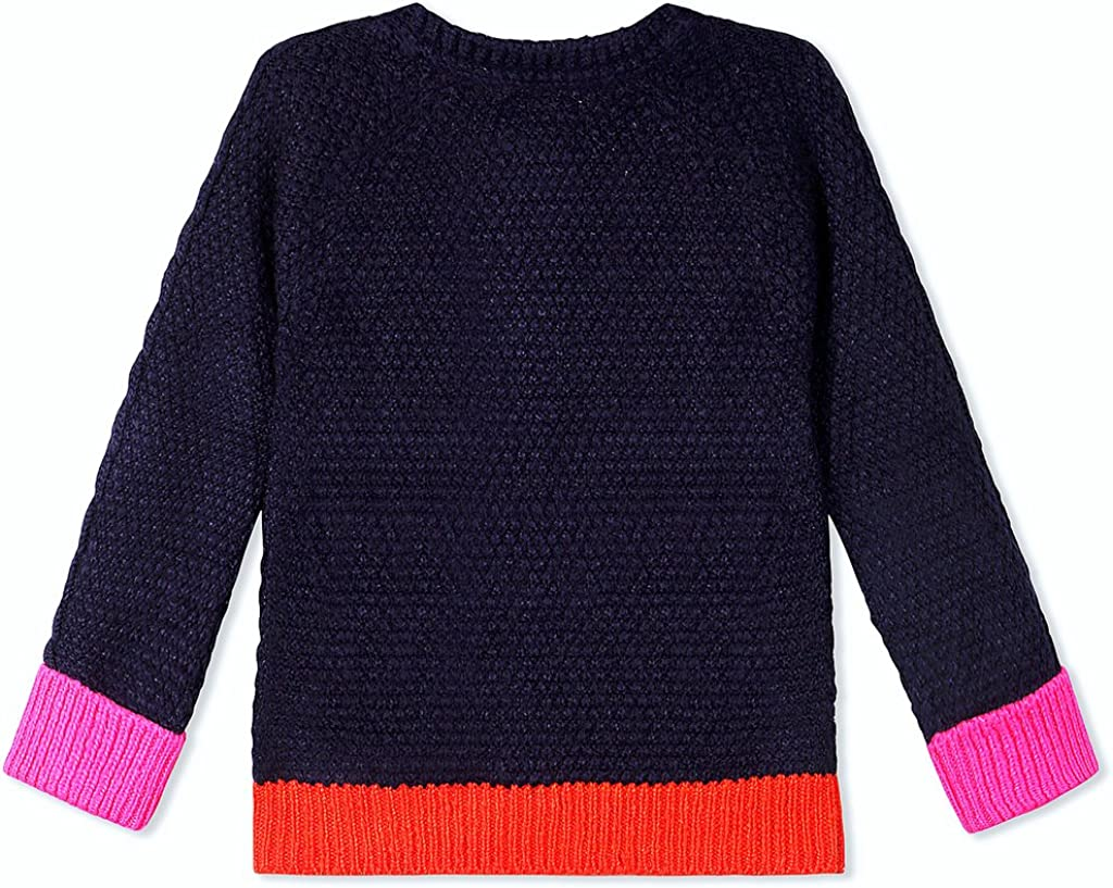 Midnight Blue Cherry Crumble California Kids Boys Acrylic Solid Winter Sweater