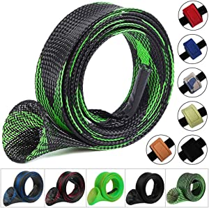 Koogel 6 Set Fishing Rod Cover, 6 Pcs Fishing Rod Sleeve 6 Pcs Fishing Rod Belts Fishing Pole Sleeves Rod Socks Rod Sleeves Spinning Protecting Your Fishing Rod From Nicks Scratches