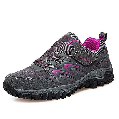 Rise Low Zapatos Botas Caminar Mujer Gracosy Para Cordones Con Iq64wtA