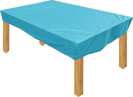 KaufPirat Premium Funda para Muebles de Jardín 340x120x15 cm Cubierta Impermeable Funda para Mesa para Mobiliario de Exterior Turquesa: Amazon.es: Jardín