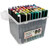 80 color master markers primary tones dual tips set a double ended art - Skin Color Markers