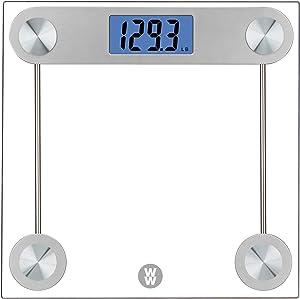 WW Scales by Conair Digital Glass Bathroom Scale, 400 Lbs. Capacity