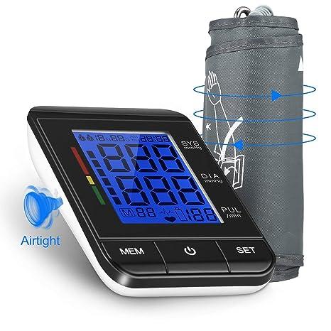 Tensiómetro de Brazo Digital con Detección del Pulso Arrítmico Lectura Fácil Función de Memoria con Tamaño