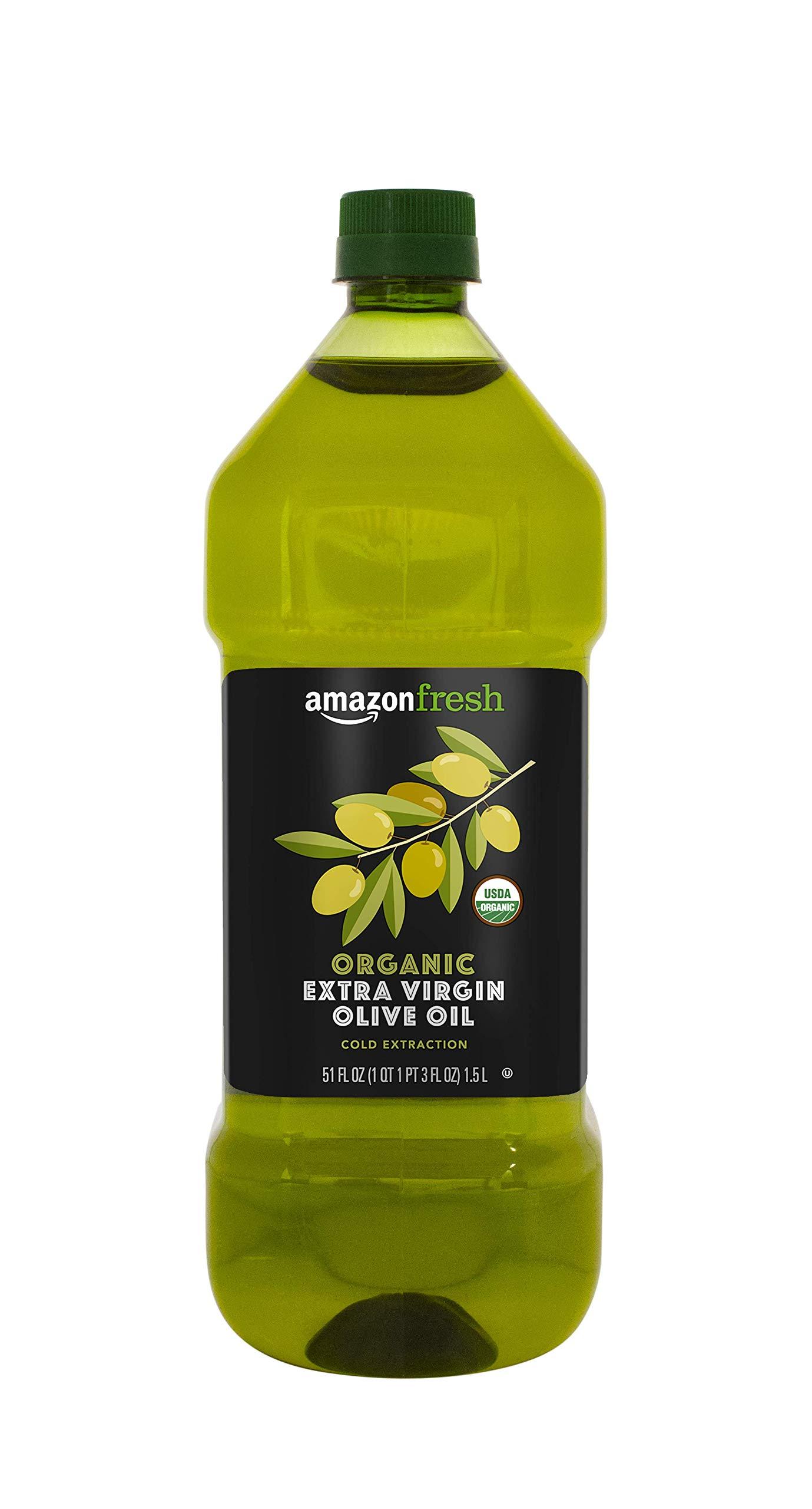 AmazonFresh Organic Extra Virgin Olive Oil, 1.5L (51 fl.oz.)