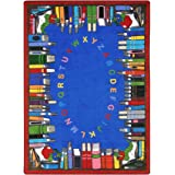 Joy Carpets Kid Essentials Language & Literacy Read and Learn Rug, Multicolored, 5