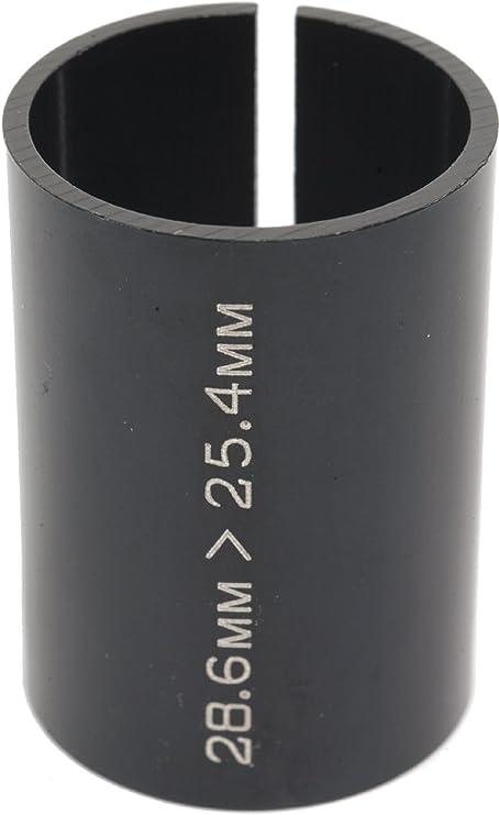 "Alloy a head bike stem reducer 25.4/>28.6 1 1//8/"" handlebar shim extension adapter"