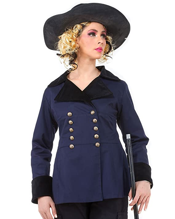 Aristocrat Double Breasted Steampunk Victorian Gothic Womens Costume Jacket  AT vintagedancer.com