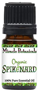 Miracle Botanicals Organic Spikenard Essential Oil - 100% Pure Nardostachys Jatamansi - 5ml, 10ml or 30ml Sizes - Therapeutic Grade - 5ml