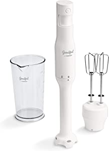 Goodful by Cuisinart HB400GF Variable Speed Mixer Attachment, Hand Blender, white