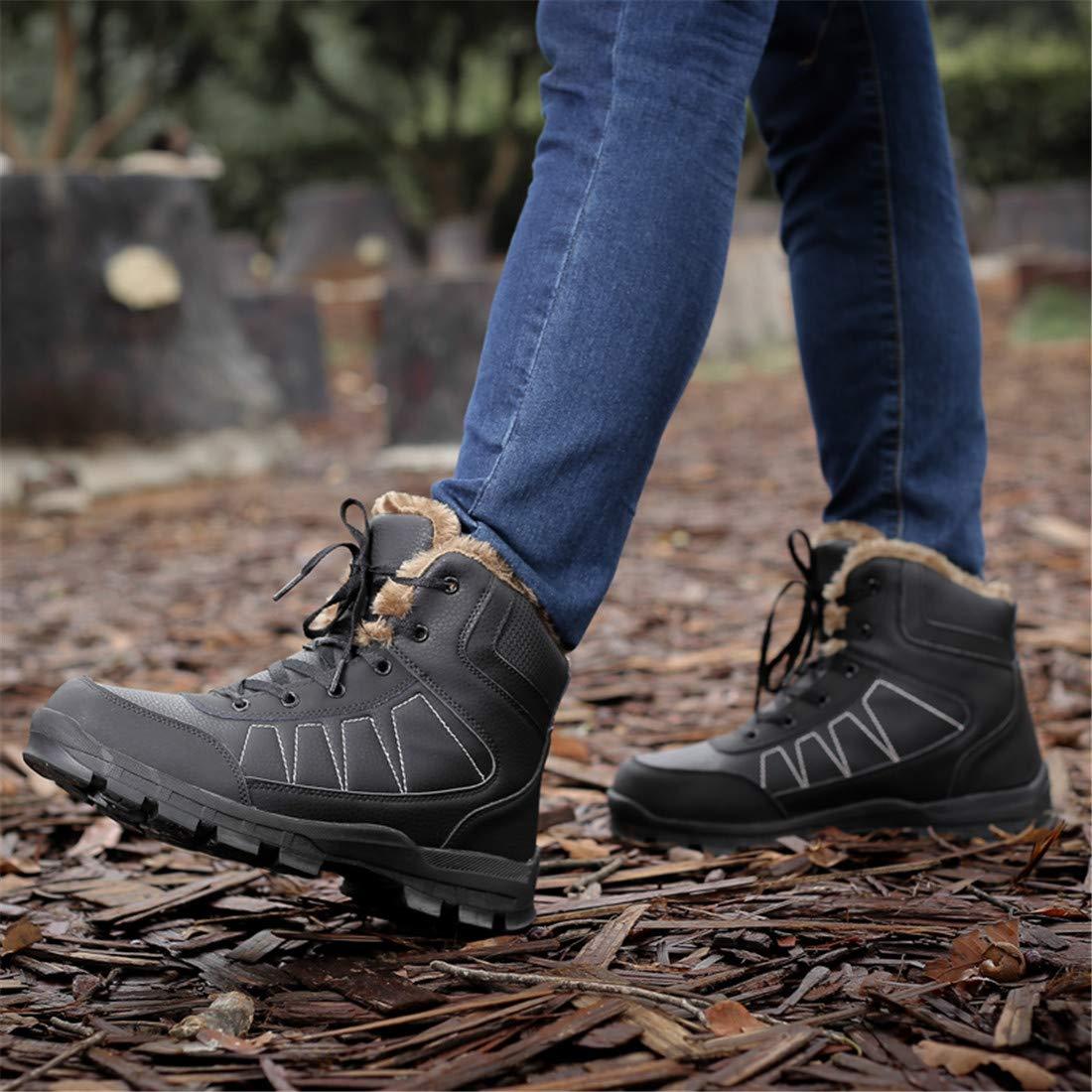 Sixspace Herren Winterstiefel Schneestiefel Boots Warm Gefütterte Winterschuhe Stiefelette Outdoor Boots Schneestiefel Schwarz-868 f33680