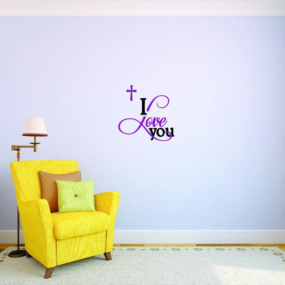 Design with Vinyl 4 Jer 1735 4 Hot New Decals I Love You Wall Art Size x 20 Inches Color 20 x 20 Multi