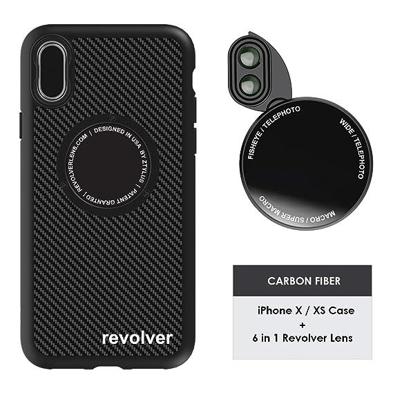 finest selection 2be12 096a1 Ztylus Designer Revolver M Series Camera Kit: 6 in 1 Lens + iPhone X/XS  Case, Smartphone Lens Kit Accessory- 2X Telephoto Lens, Macro/Super Macro  ...