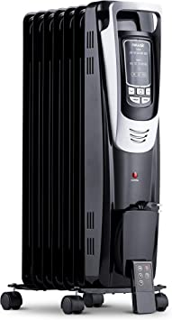 NewAir Electric Oil-Filled Space Heater, Indoor Personal Heater, Black, AH-450B