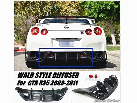 2008 2011 Nissan GTR R35 Rear Diffuser/WD Style Carbon Fiber Diffuser W/